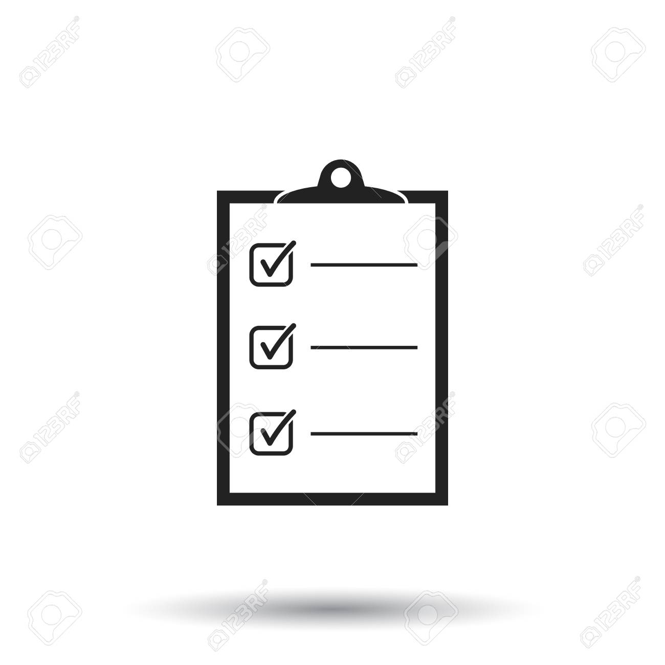 to do list icon. checklist, task list vector illustration in