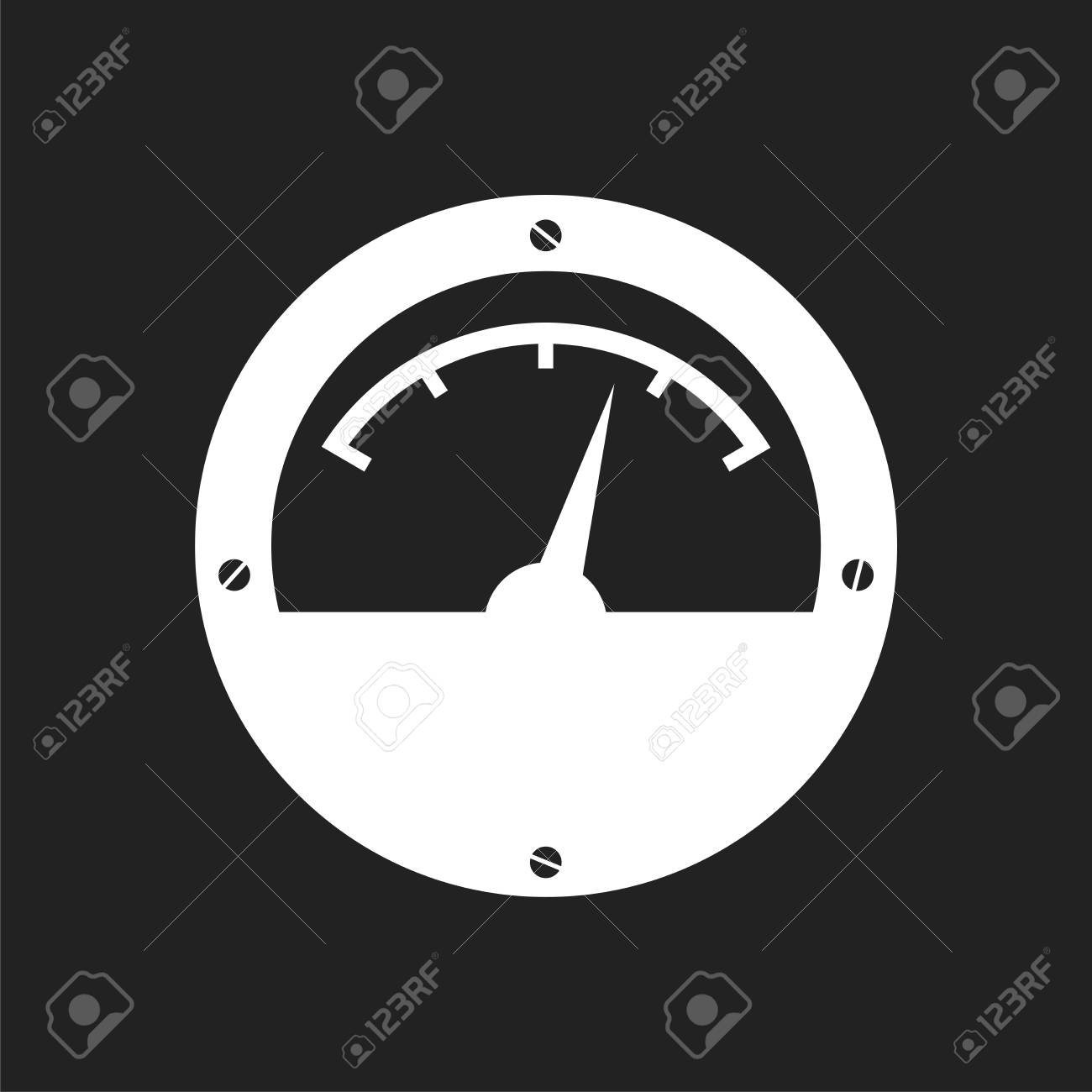 Electric Meter Icon Power Meter Flat Vector Illustration On
