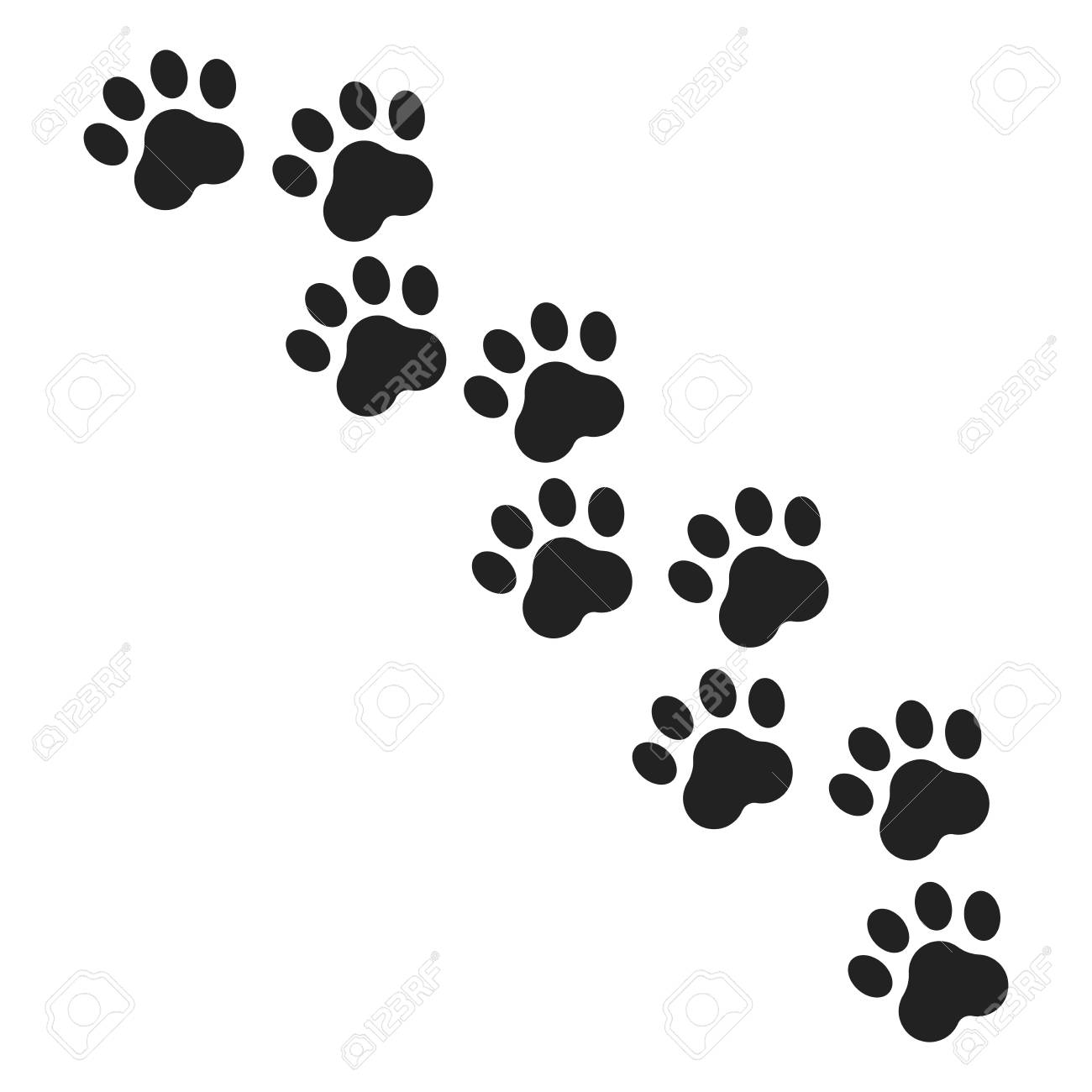 paw print vector icon dog or kitten at paw print illustration rh 123rf com dog paw print tattoo vector dog paw print vector free download
