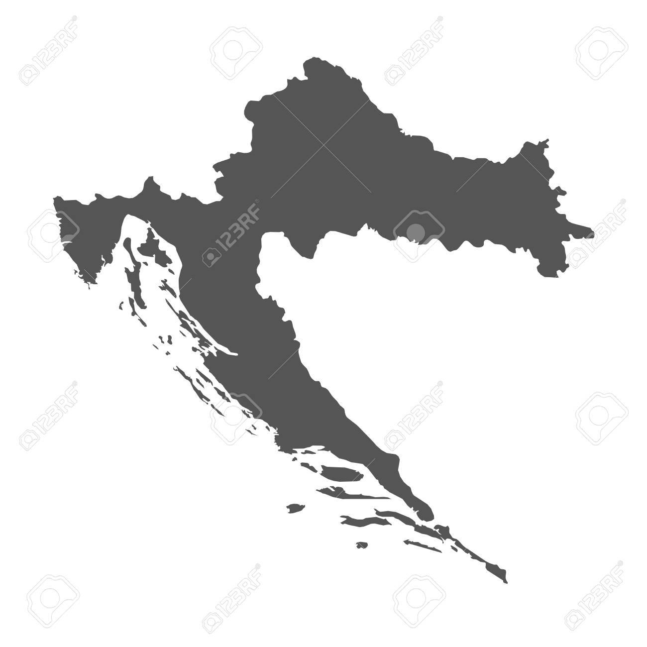 Croatia vector map black icon on white background royalty free croatia vector map black icon on white background stock vector 77698420 gumiabroncs Image collections