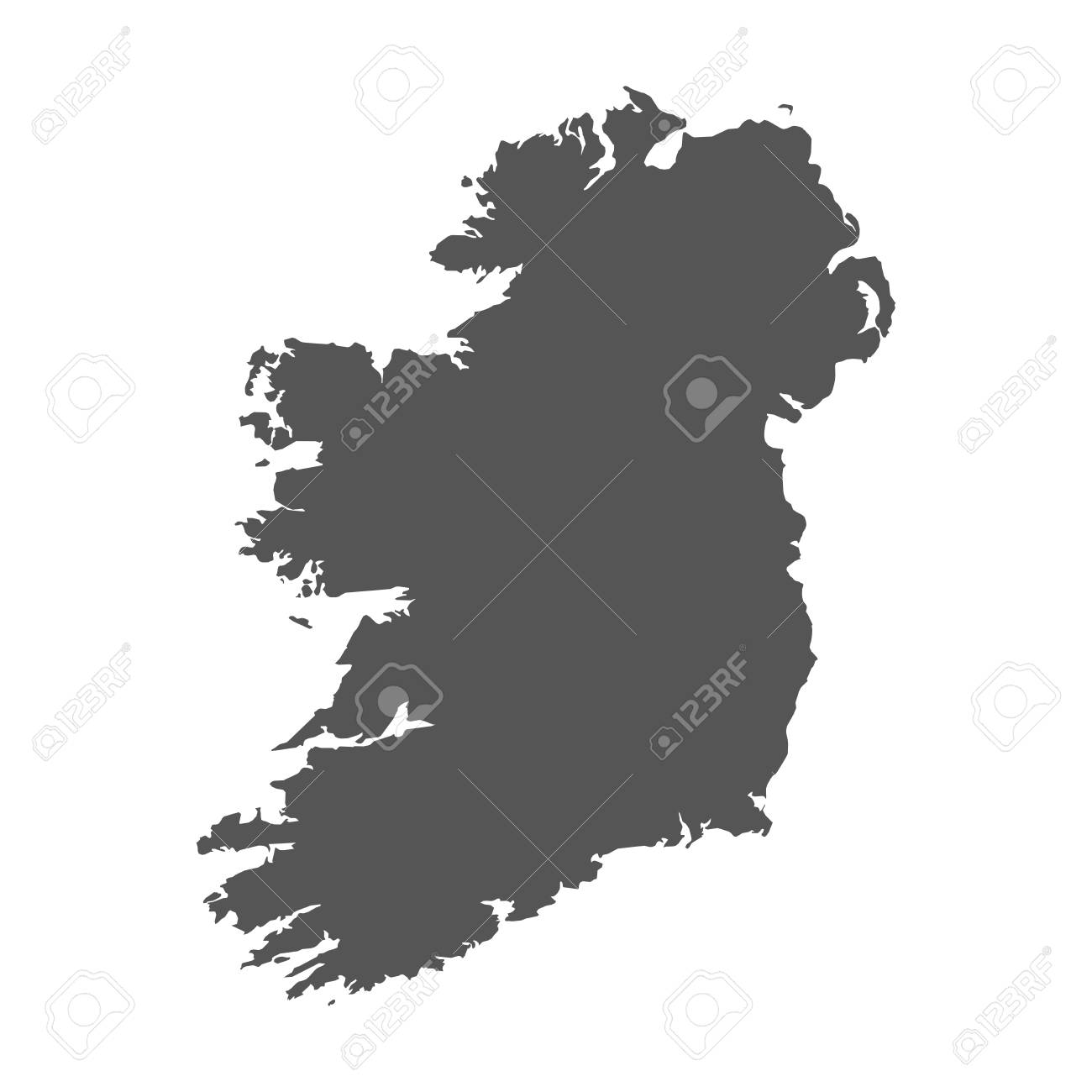 Map Of Ireland Vector.Ireland Vector Map Black Icon On White Background