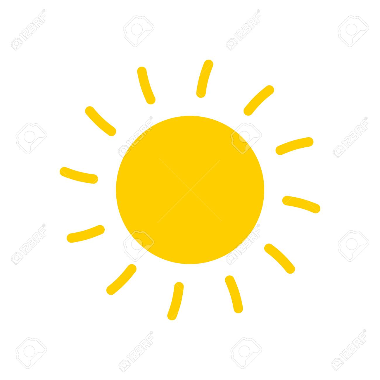 Sun icon vector illustration  Sun with ray symbol