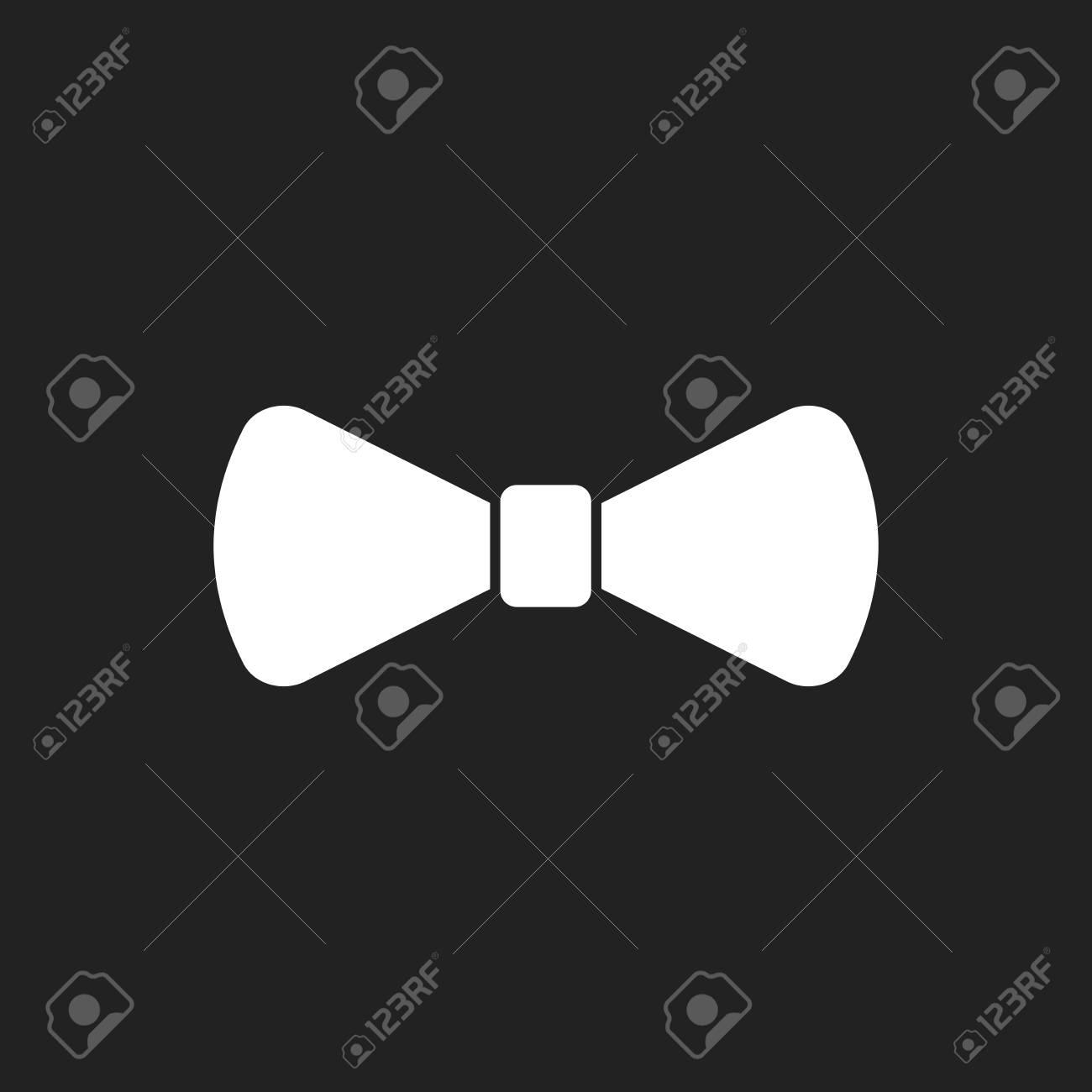 Pajarita icono plano. Ilustración del vector de la corbata.