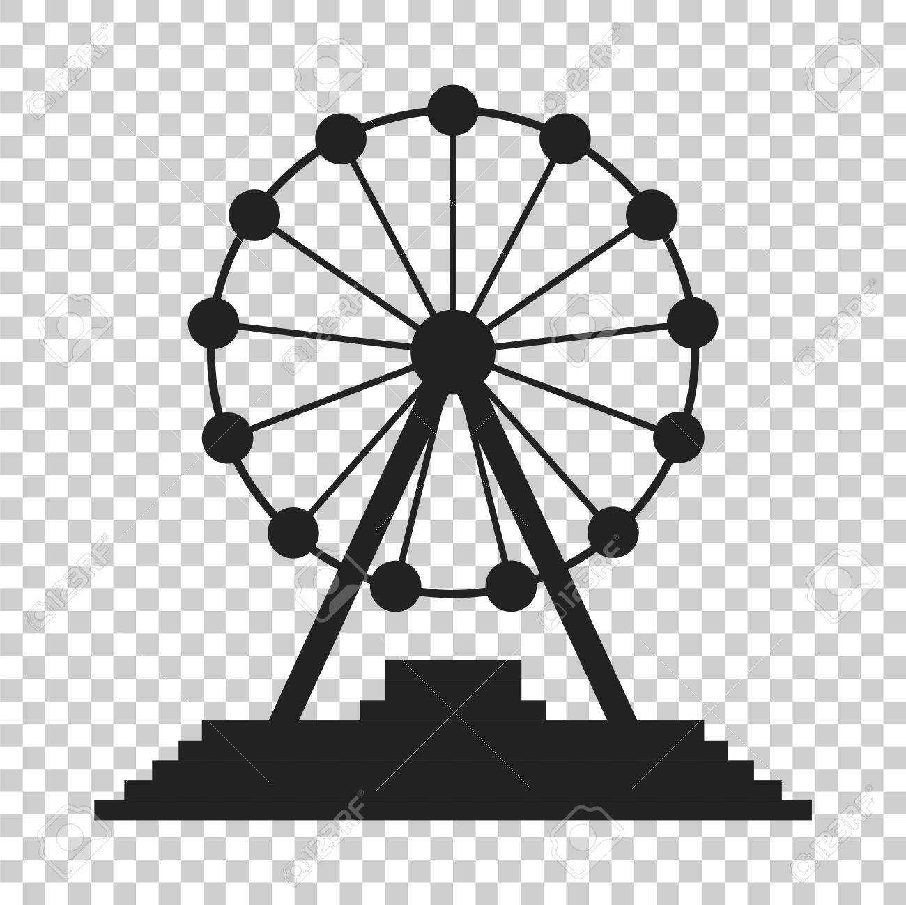 Ferris Wheel Vector Icon Carousel In Park Icon Amusement Ride Royalty Free Cliparts Vectors And Stock Illustration Image 82072075