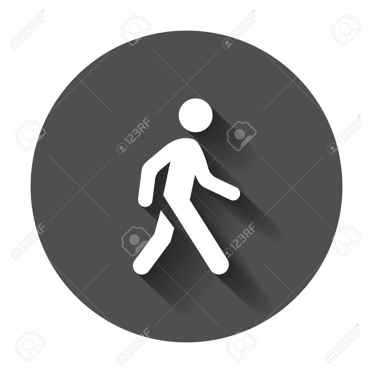 walking man vector icon people walk sign illustration on black royalty free cliparts vectors and stock illustration image 82678487 walking man vector icon people walk sign illustration on black