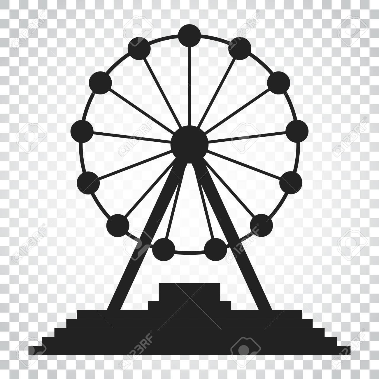 Ferris Wheel Vector Icon Carousel In Park Icon Amusement Ride Royalty Free Cliparts Vectors And Stock Illustration Image 82986732