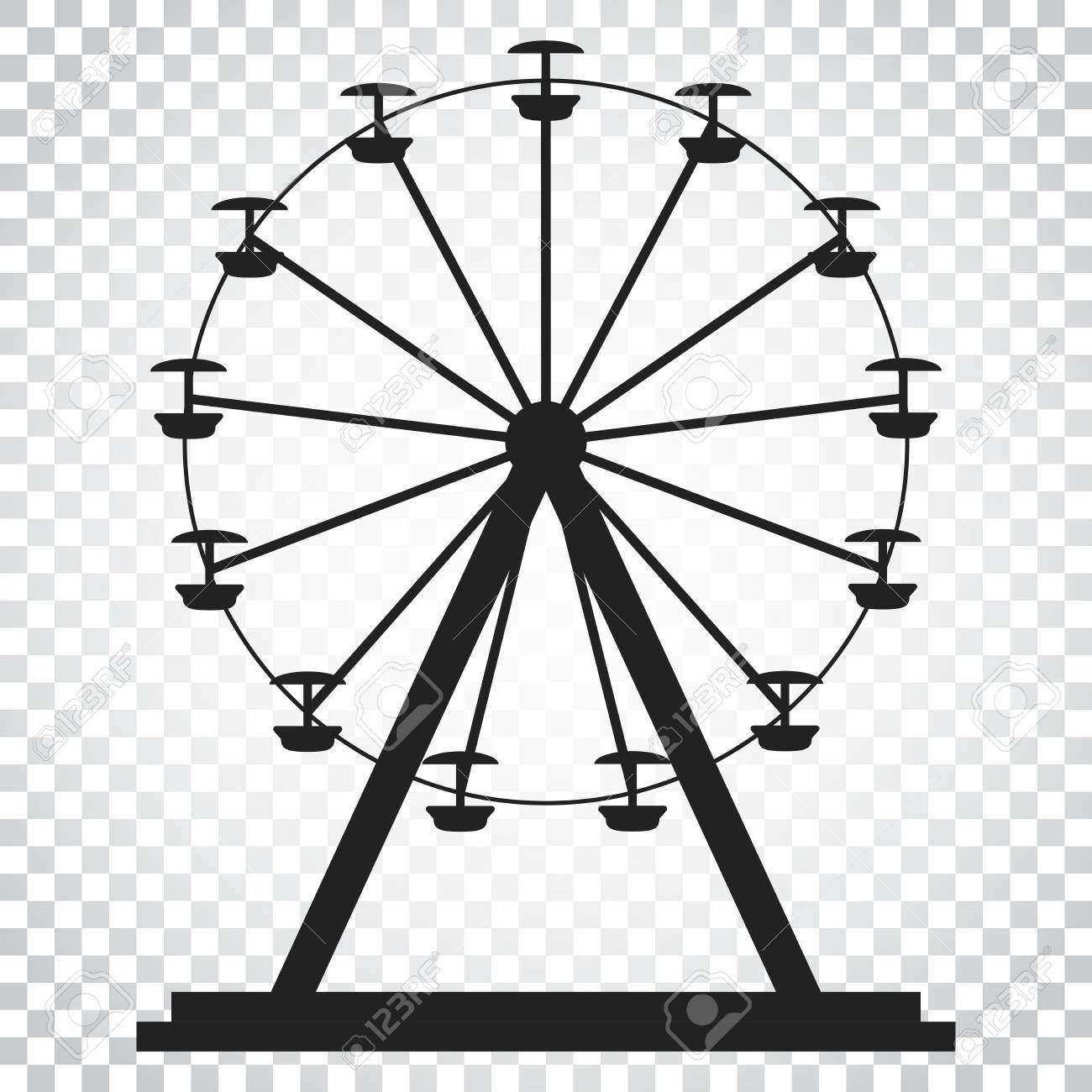 Ferris Wheel Vector Icon Carousel In Park Icon Amusement Ride Royalty Free Cliparts Vectors And Stock Illustration Image 82974209