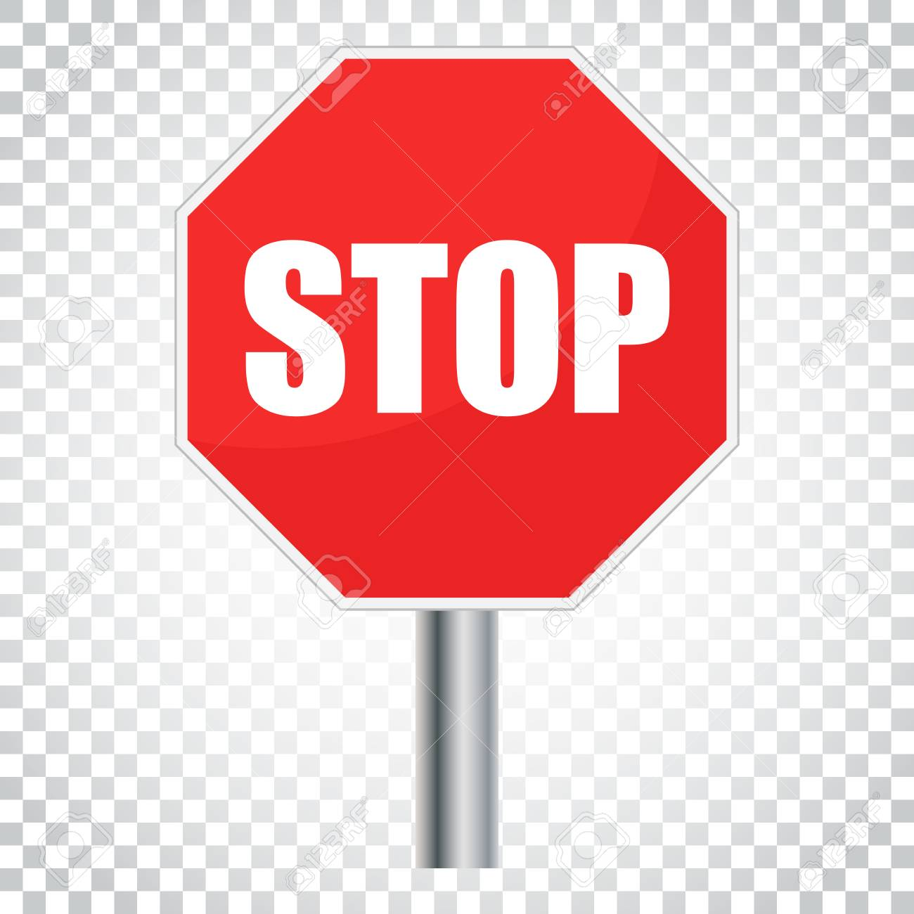 red stop sign vector icon danger symbol vector illustration rh 123rf com stop sign vector black and white stop sign vector free
