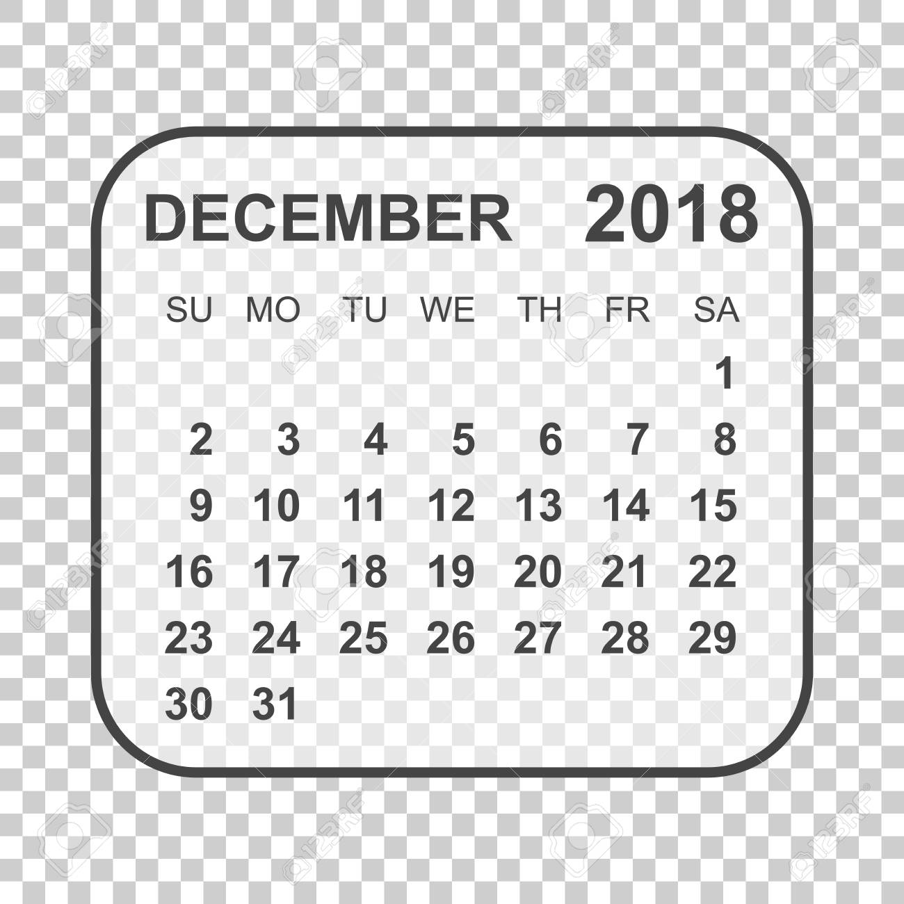 december 2018 calendar calendar planner design template week