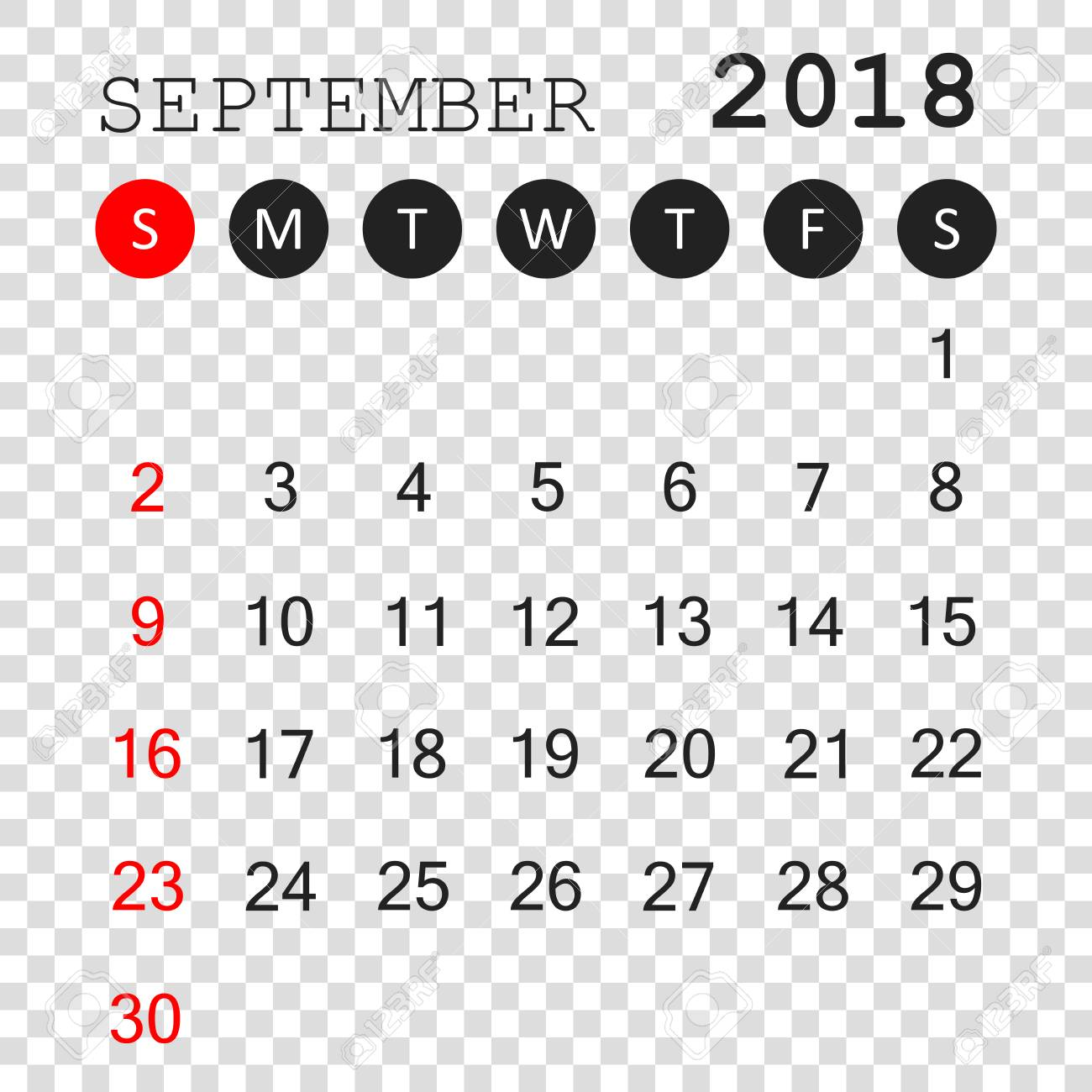 september 2018 calendar calendar planner design template week starts on sunday business vector