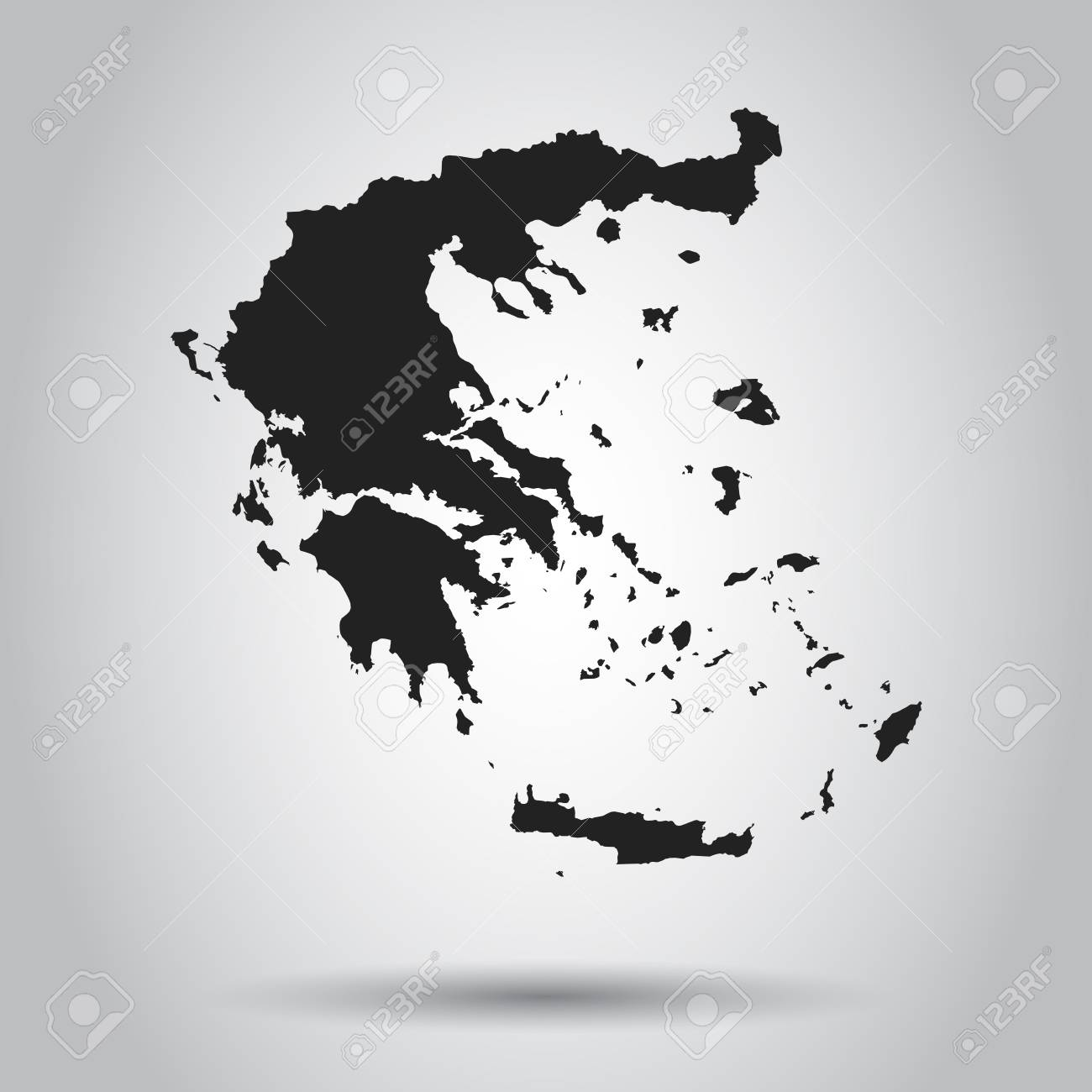 Greece vector map black icon on white background royalty free greece vector map black icon on white background stock vector 96524393 gumiabroncs Image collections