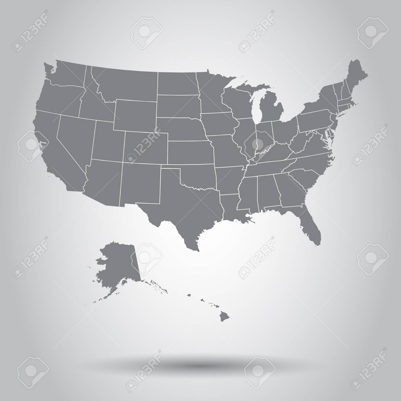 USA Map Icon. Business Cartography Concept United States Of America ...