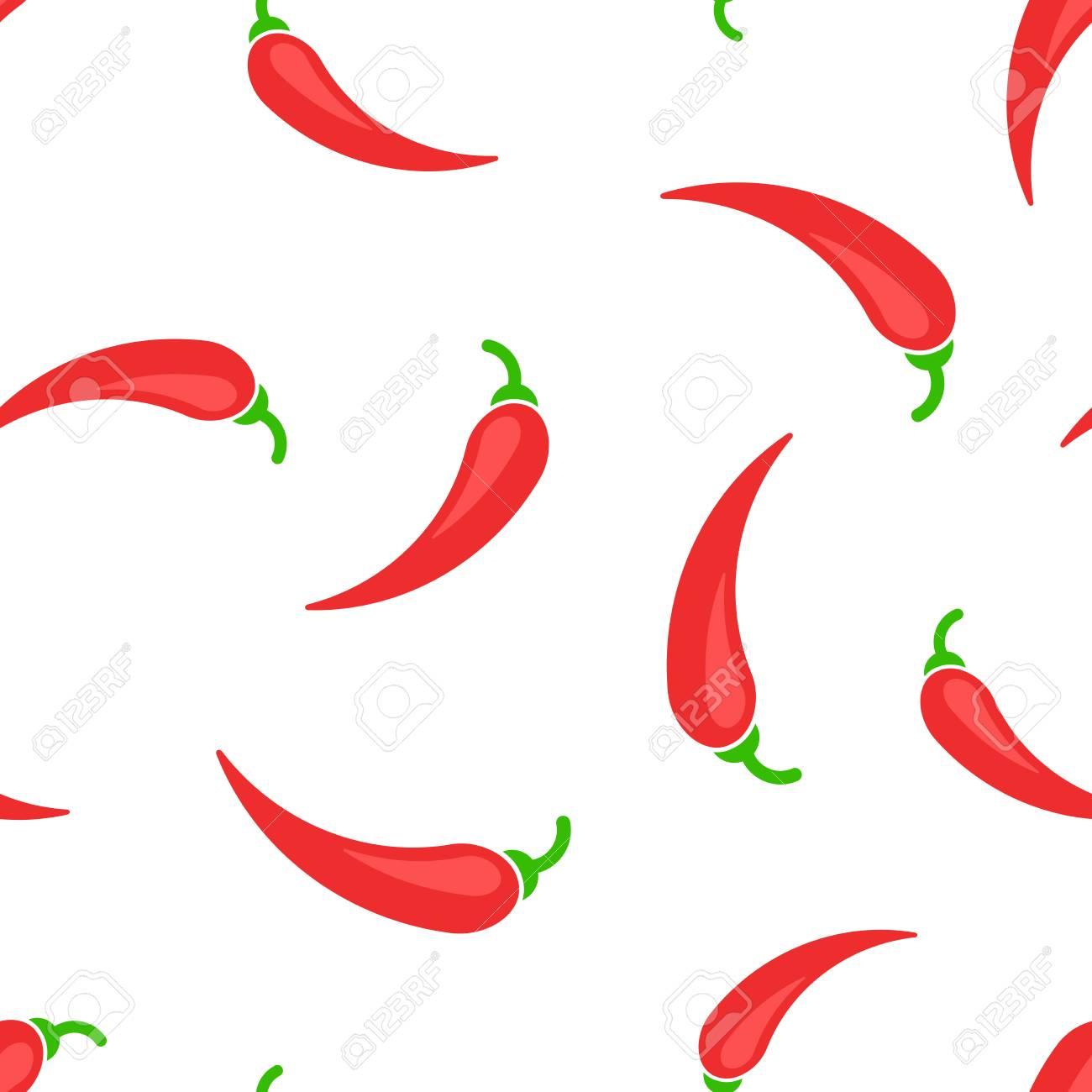 Chili pepper icon seamless pattern background. Business concept vector illustration. Chili paprika symbol pattern. - 103580587
