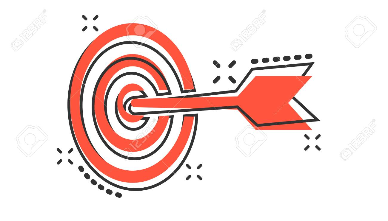 vector cartoon target aim icon in comic style darts game sign royalty free cliparts vectors and stock illustration image 112062998 vector cartoon target aim icon in comic style darts game sign