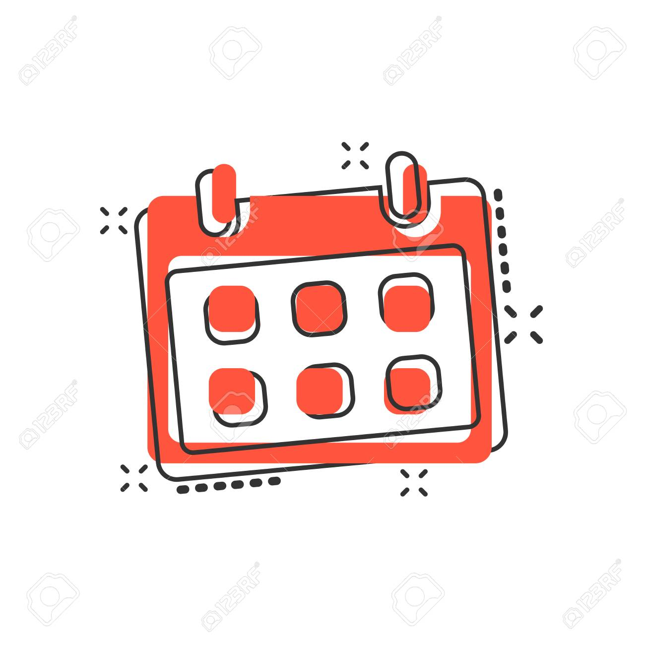 vector cartoon calendar icon in comic style reminder agenda royalty free cliparts vectors and stock illustration image 112063018 vector cartoon calendar icon in comic style reminder agenda