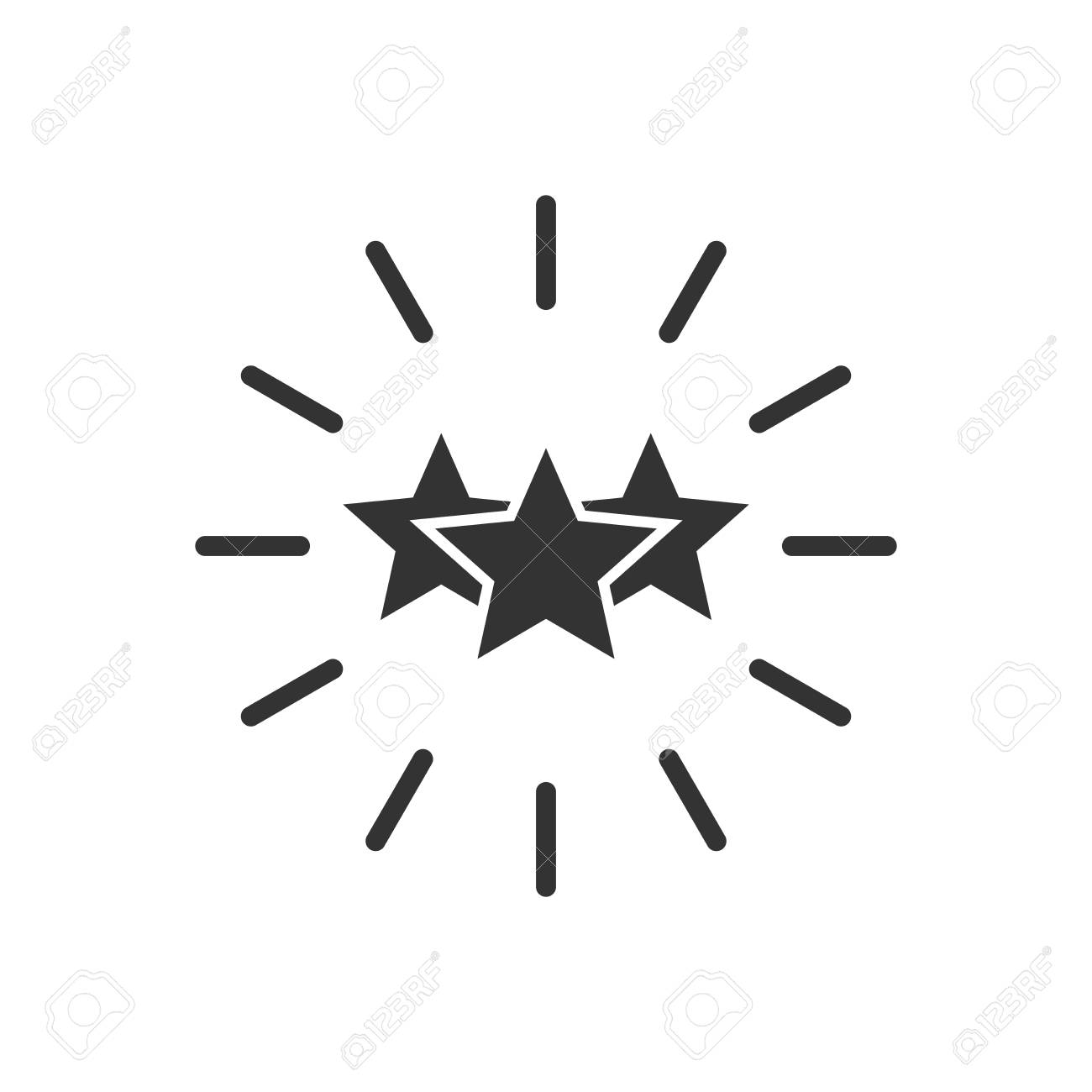 Excellence icon in flat style  Star ribbon vector illustration