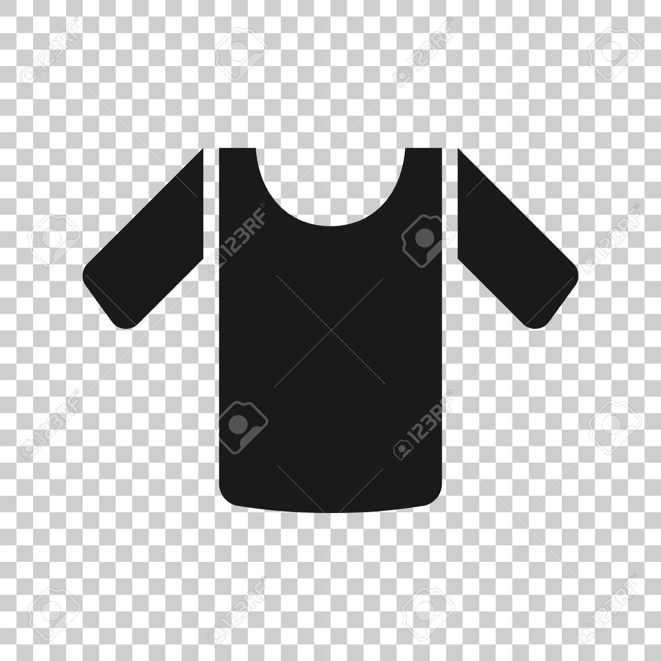 tshirt icon in flat style casual clothes vector illustration royalty free cliparts vectors and stock illustration image 141786715 123rf com