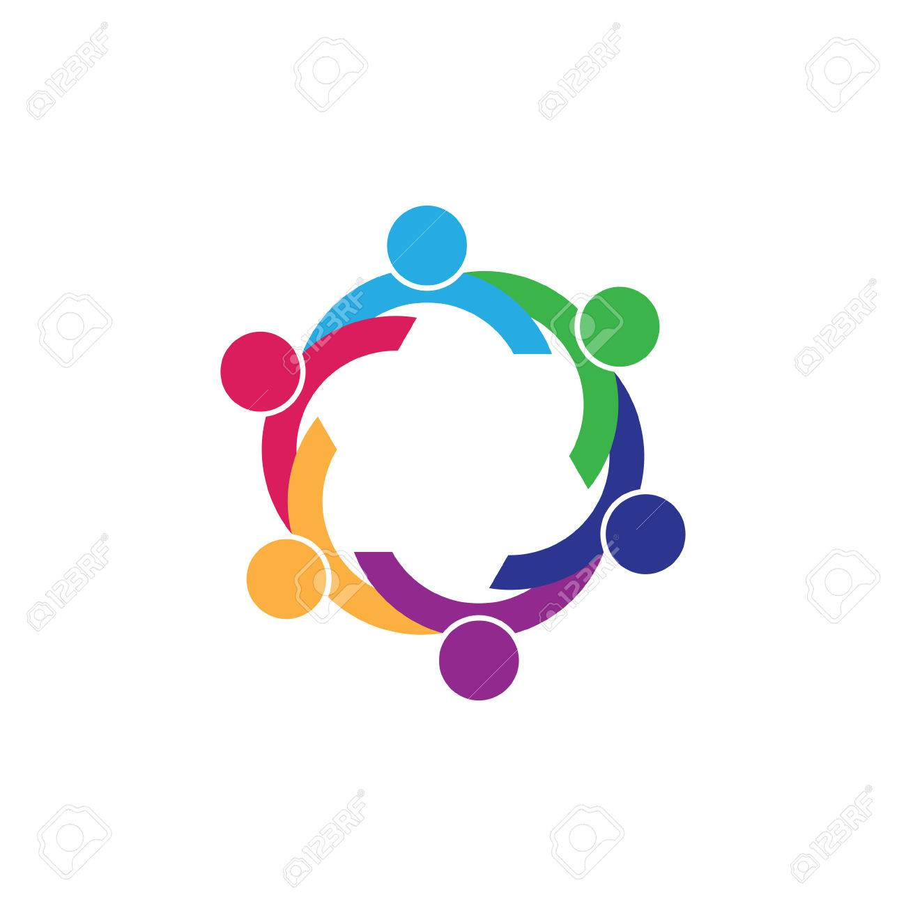 six people icon  people friends logo concept vector icon  this