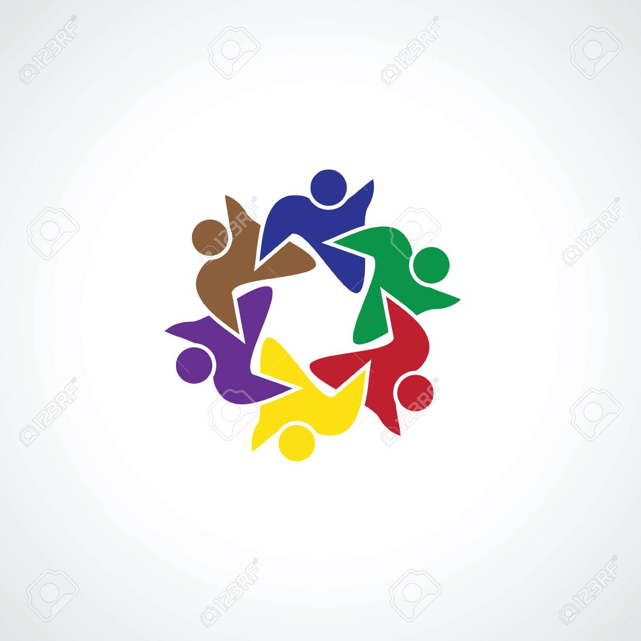 six people icon  people friends logo concept vector icon