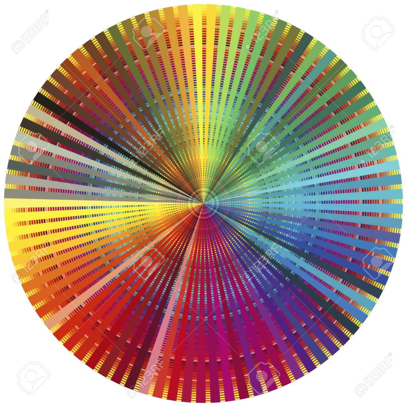 rainbow color wheel decorative poster for all who are in the