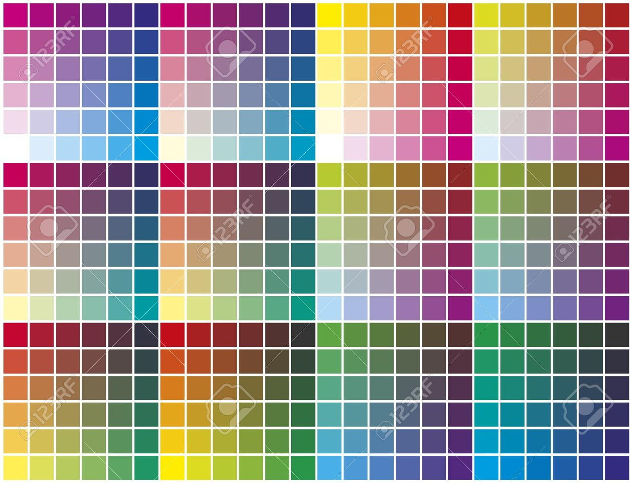 Color Palette Chart For Prepress Printing And Calibration Business Stock Vector