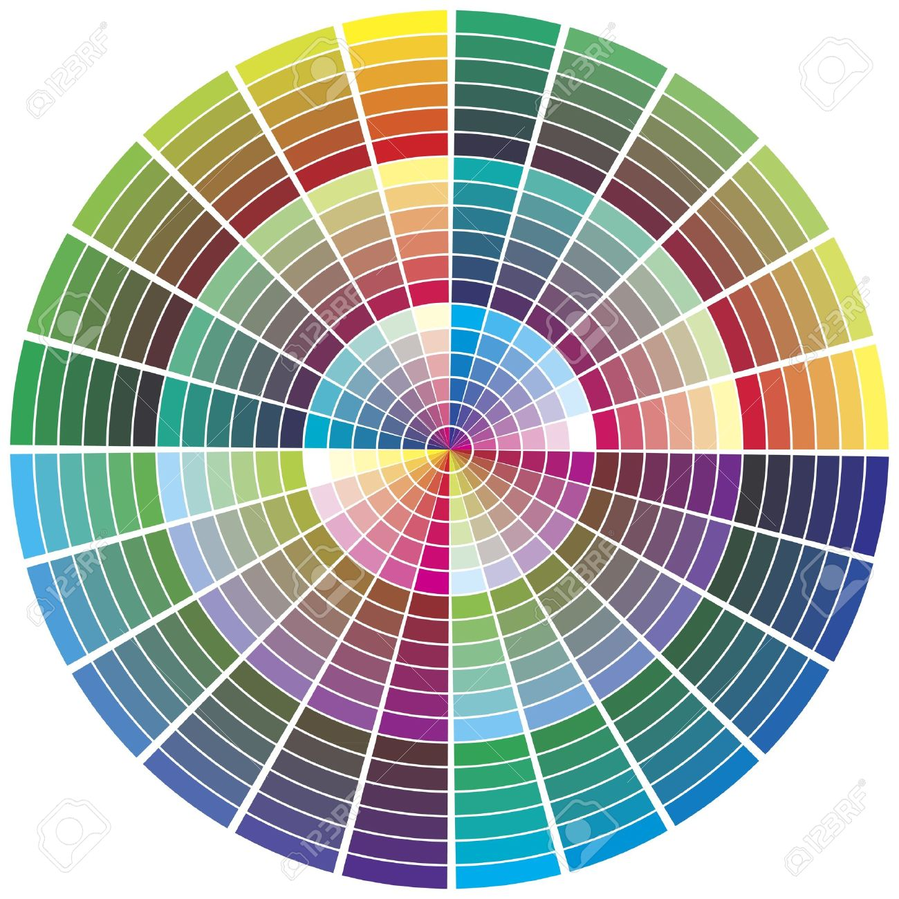 Color test print out - Color Chart For Prepress Printing Color Theory Calibration Business
