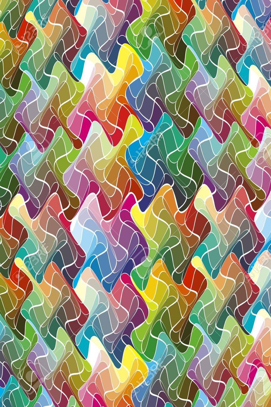 Farben In Bewegung: Zeitgenössische Muster Für Eine Geschenkpapier ...