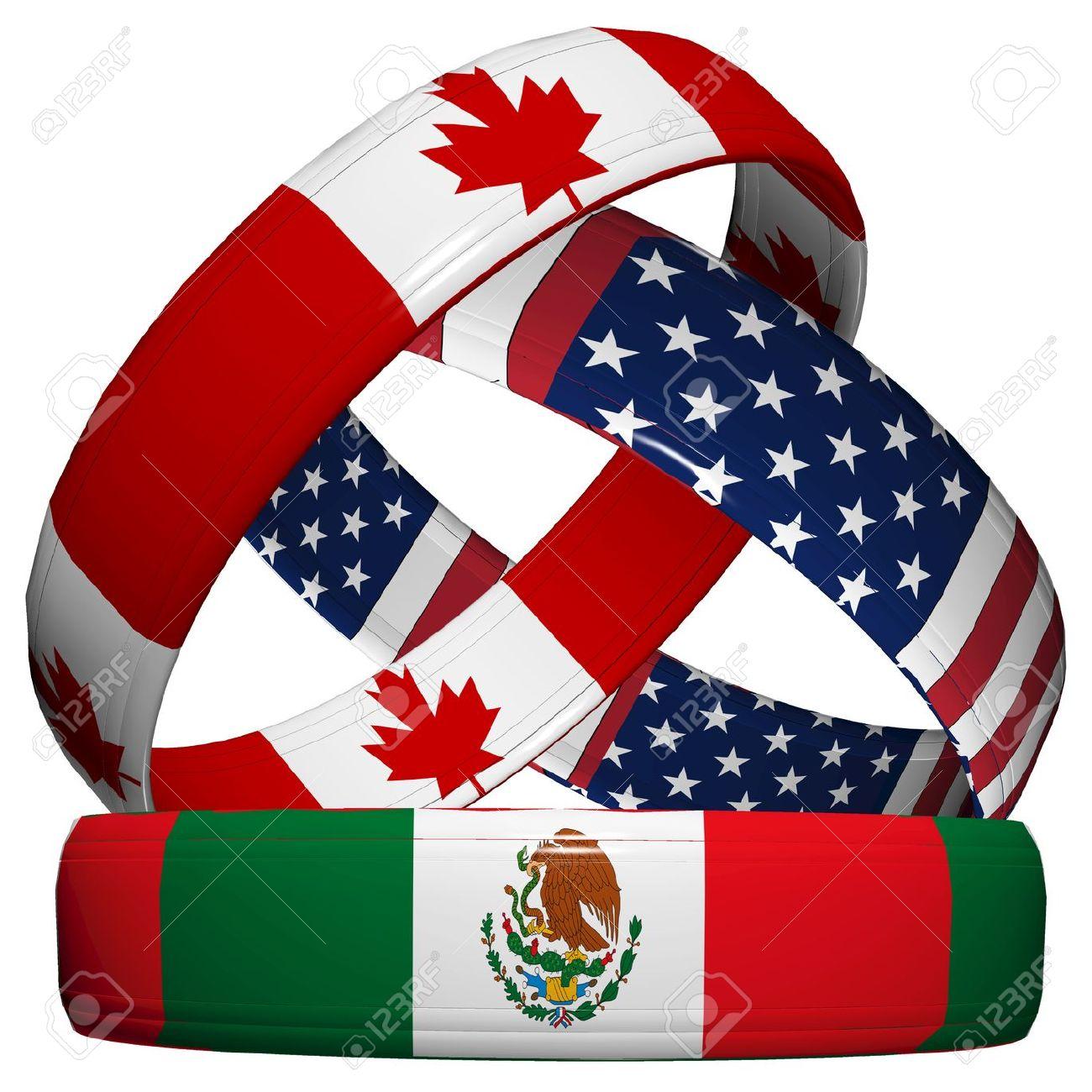 Nafta north american free trade agreement three symbolic wedding nafta north american free trade agreement three symbolic wedding rings in the national flag platinumwayz