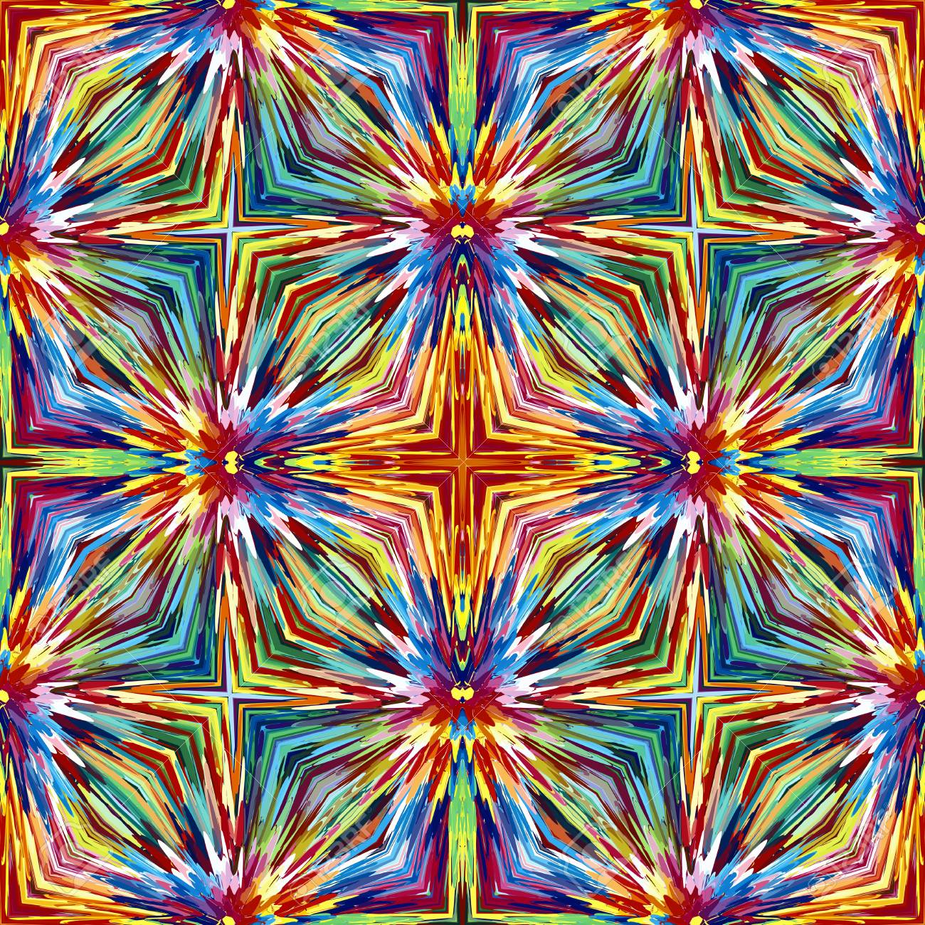 Heilig-Kreuz-Muster. Zeitgenössische Nahtlose Ornament In Lebendigen ...