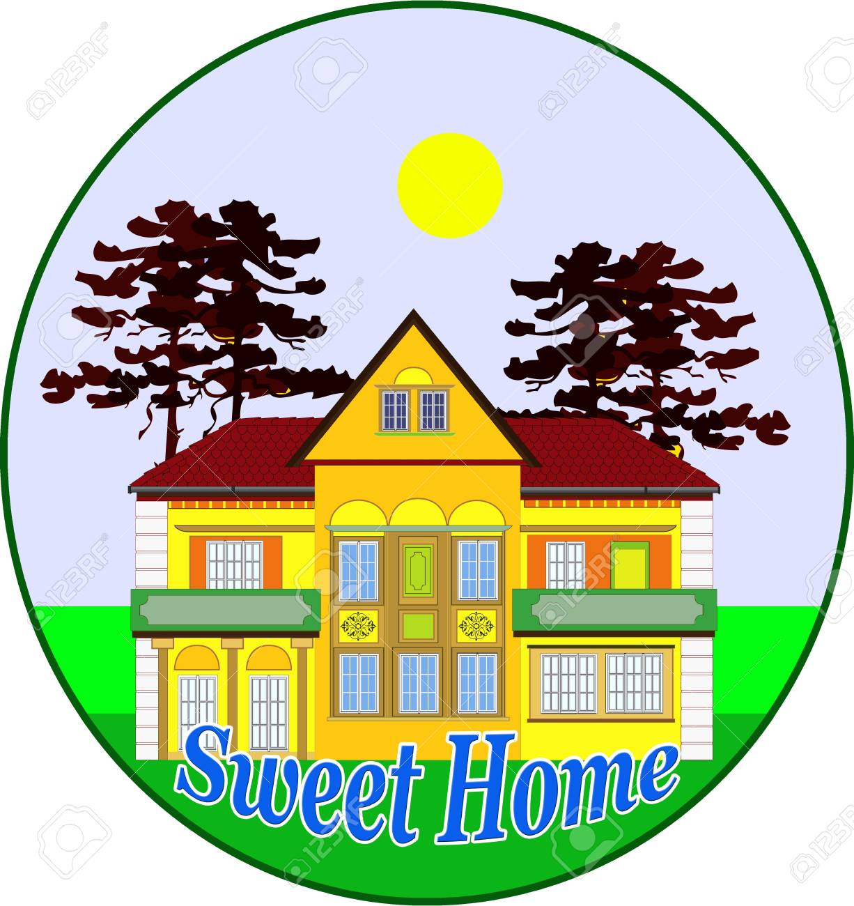 Sweet home. Illustration for the real estate market Stock Photo - 13403414