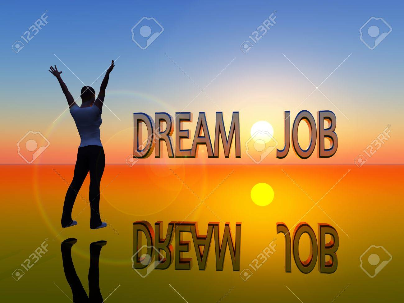 young w is visualizing her dream job stock photo picture and stock photo young w is visualizing her dream job