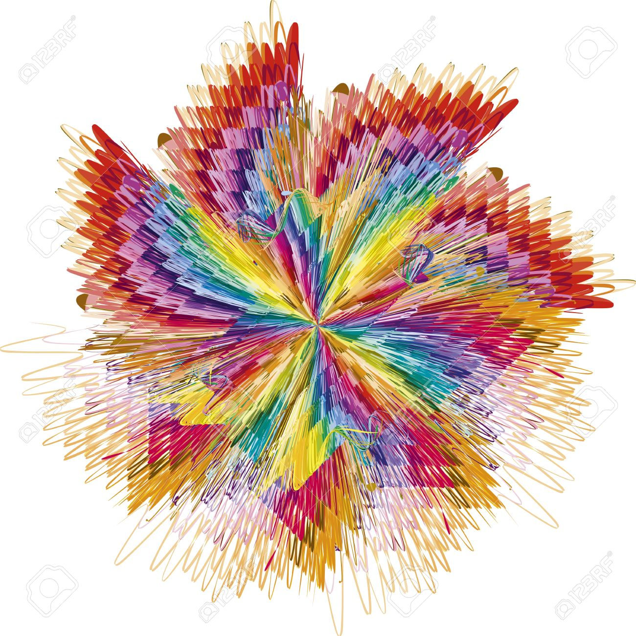 Abstract color explosion as symbol for creativity and spontaneity Stock Vector - 13828779