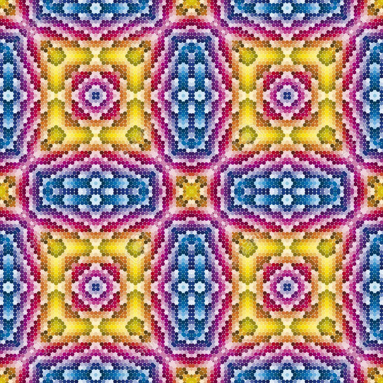 Römischen Oder Griechischen Mosaik Historische Muster Mit Runden - Fliesen historische muster