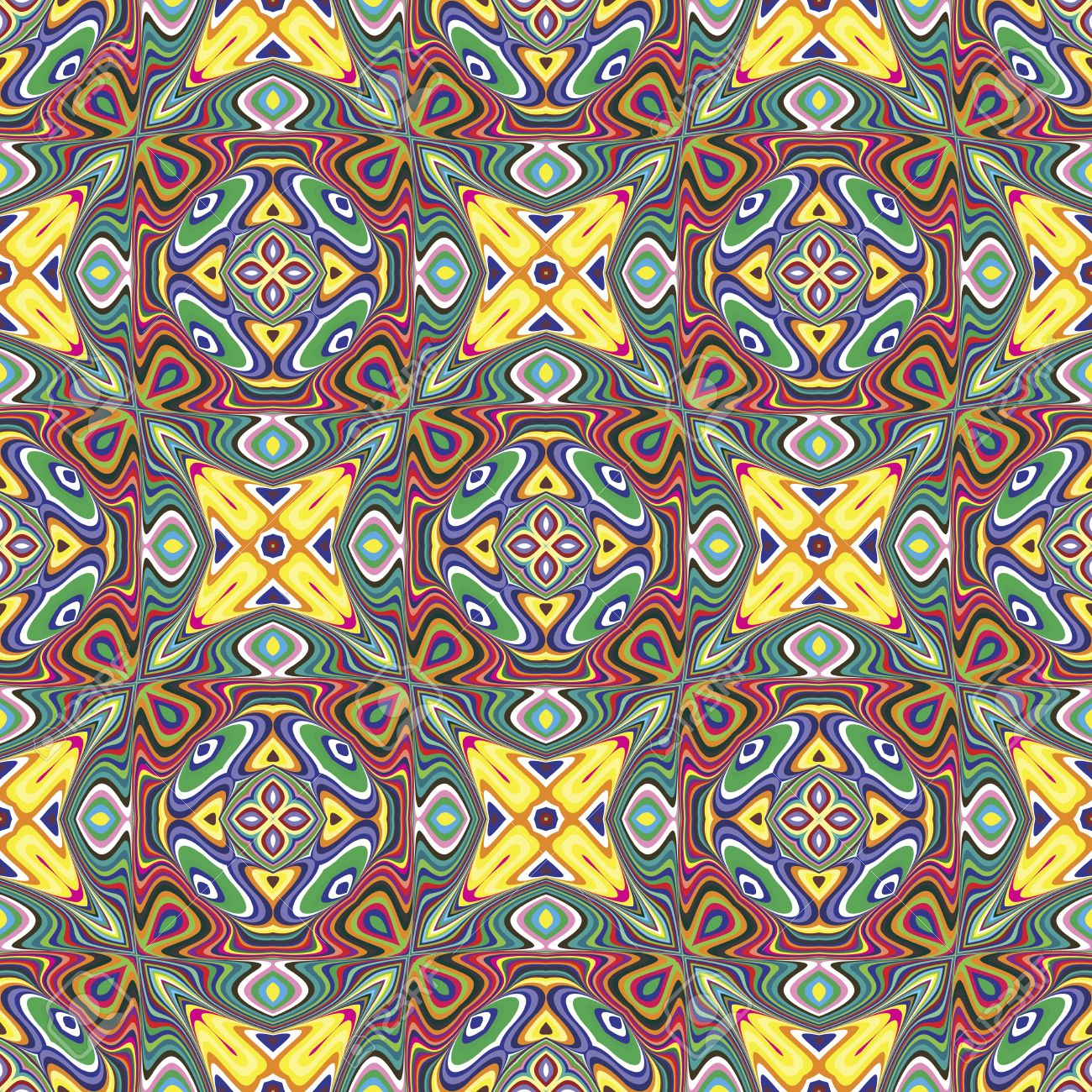 Modern indian pattern with spiritual symbols derived from ancient modern indian pattern with spiritual symbols derived from ancient motifs in vivid and brilliant colors buycottarizona Choice Image