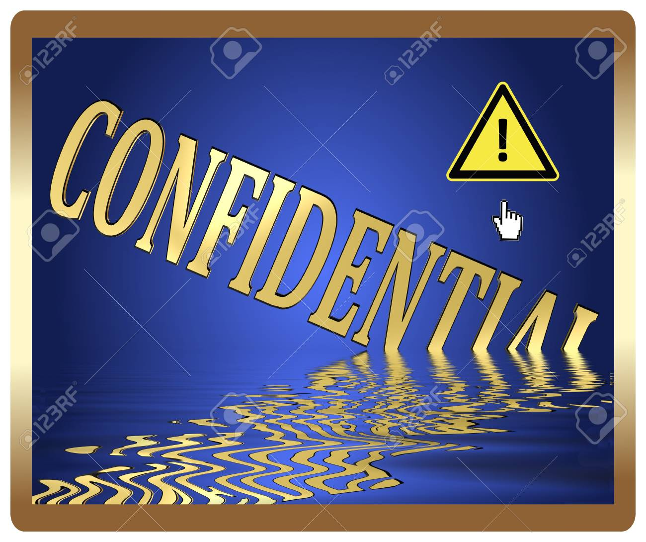 Protect your privacy, confidential information at risk Stock Photo - 22013824