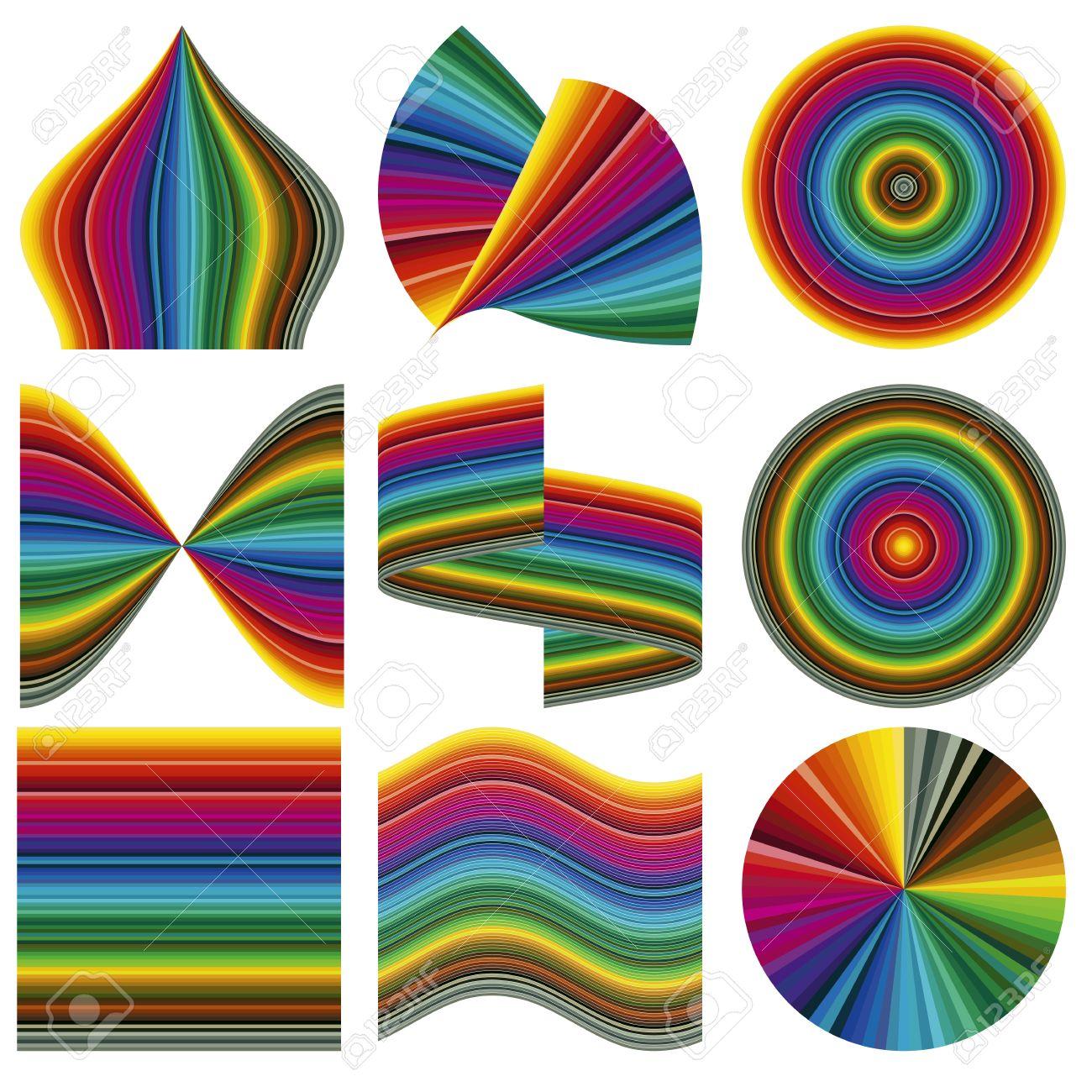 Color Del Vector Range Paleta De 85 Colores En Diferentes Formas ...