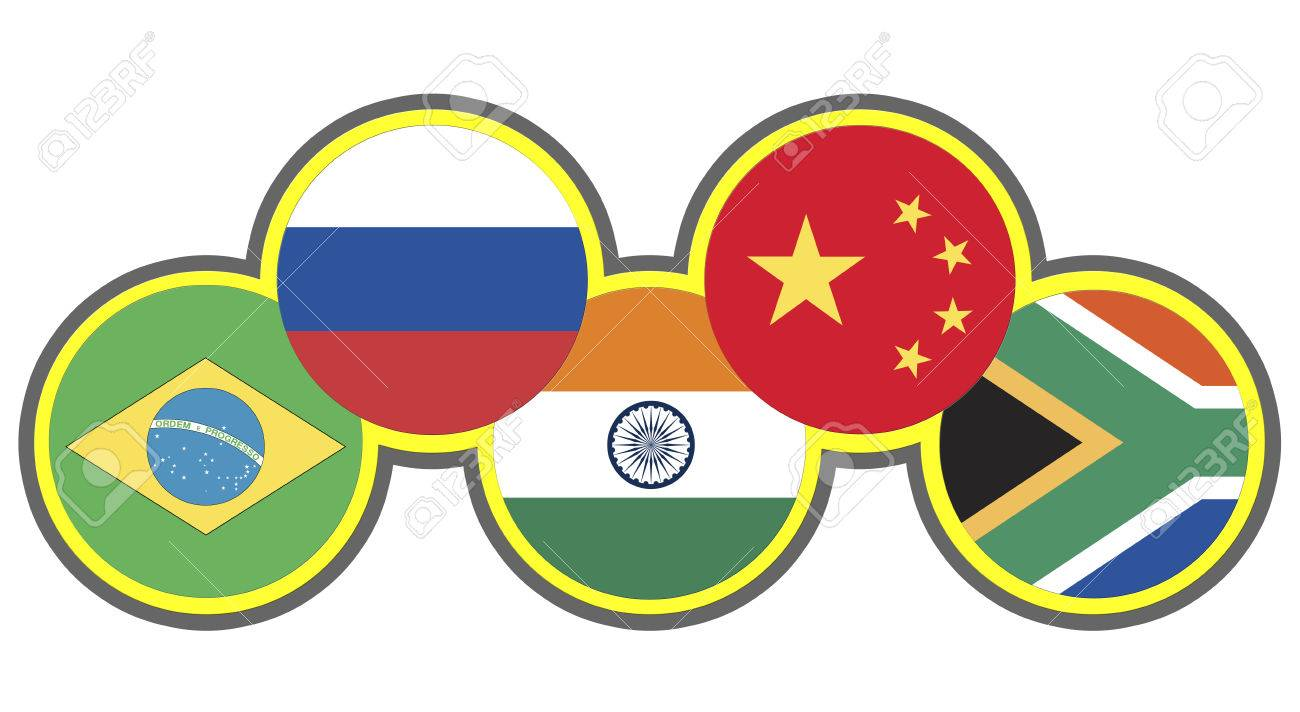BRICS  Symbol of the association of emerging national economies, Brazil, Russia, India, China, South Africa Stock Photo - 23878268