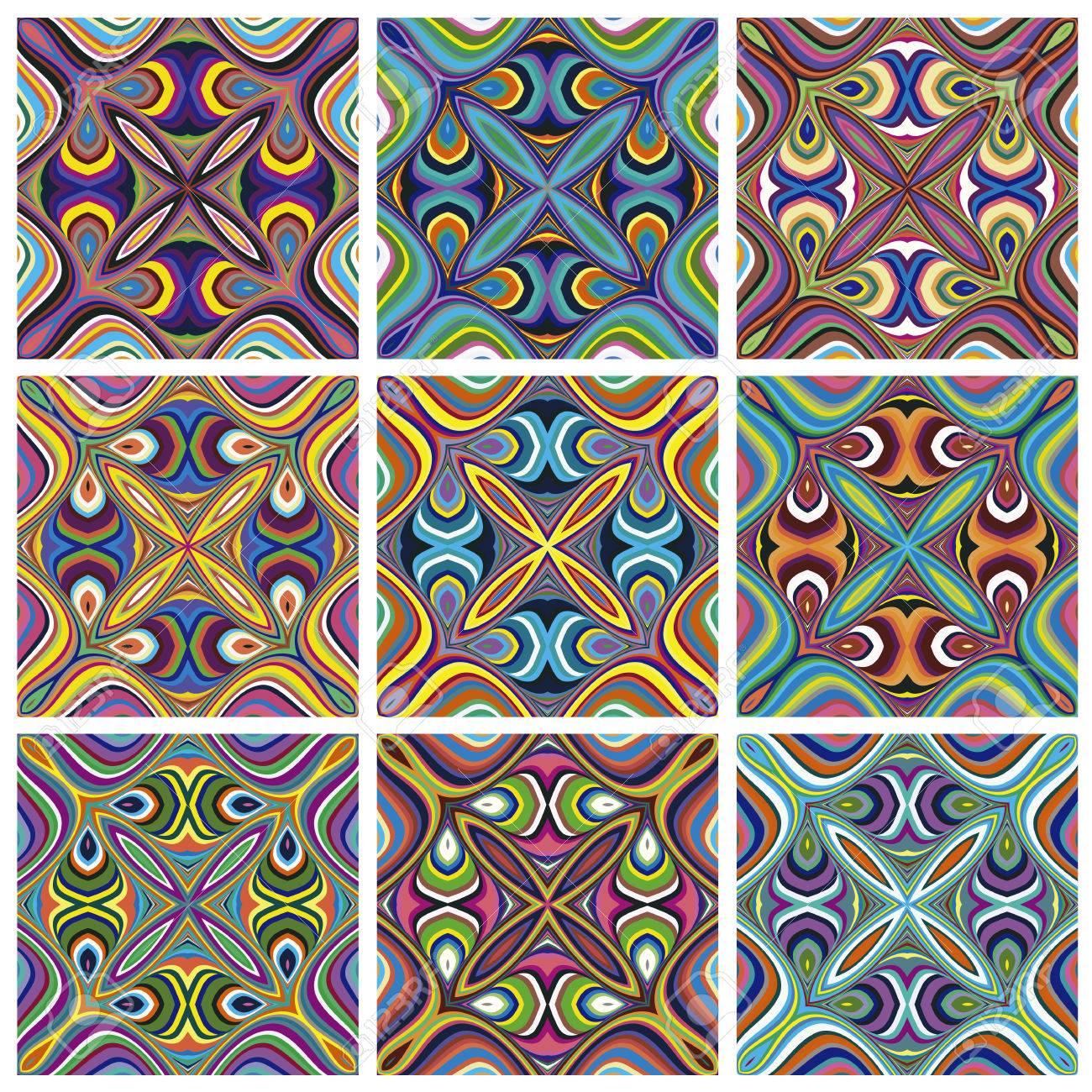 Ethno Muster ethno-muster nahtlose texturen mit spirituellen symbolen aus der