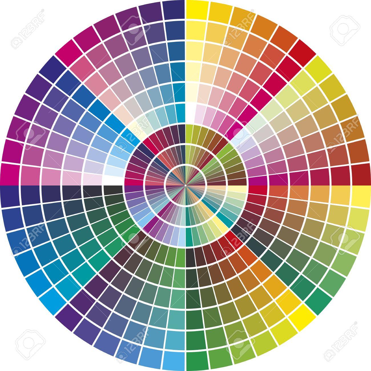 carta de colores redonda para la industria gráfica con 216 tonos de