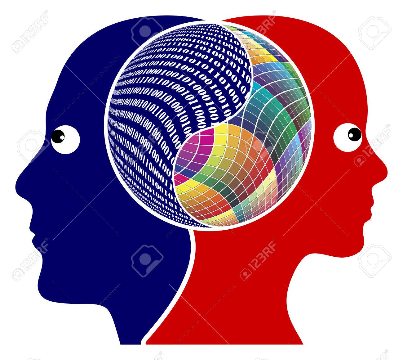 Rationality or Creativity The right brain and the left brain got different function, either logical or creative thinking - 30819433