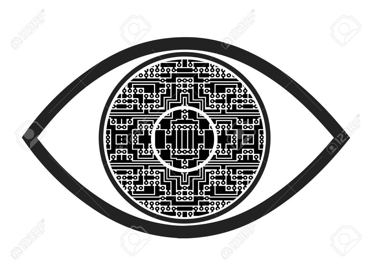 Bionic Eye Concept Sign And Symbol For A Visual Prosthesis To