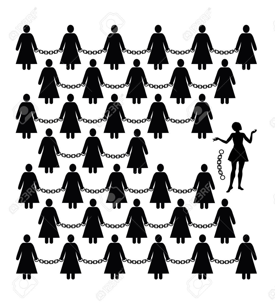 Feminist Movement. Concept sign for women?s liberation against discrimination and freedom - 33645395