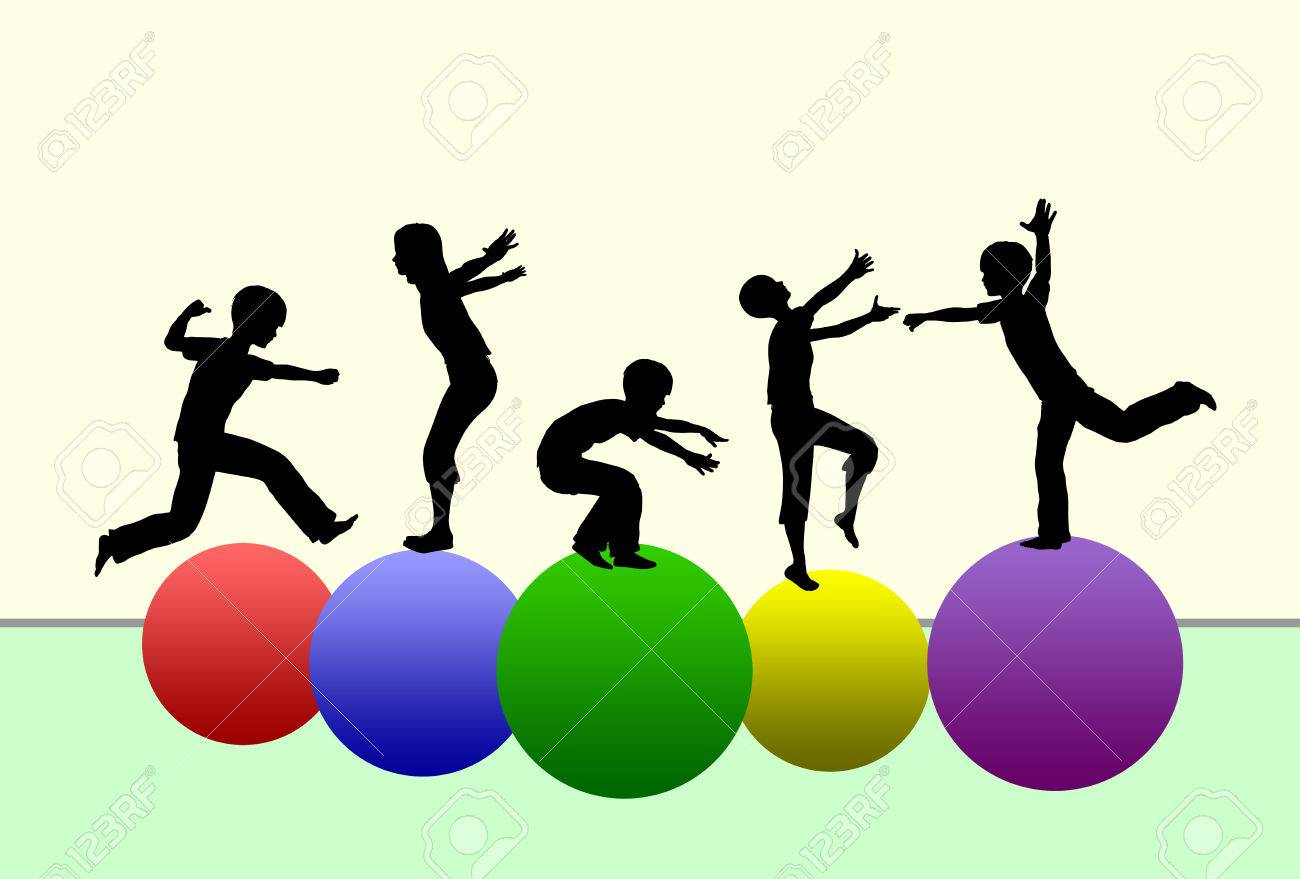 Developing Motor skills. Concept of promoting physical development in early childhood by gymnastics and sports - 33786094