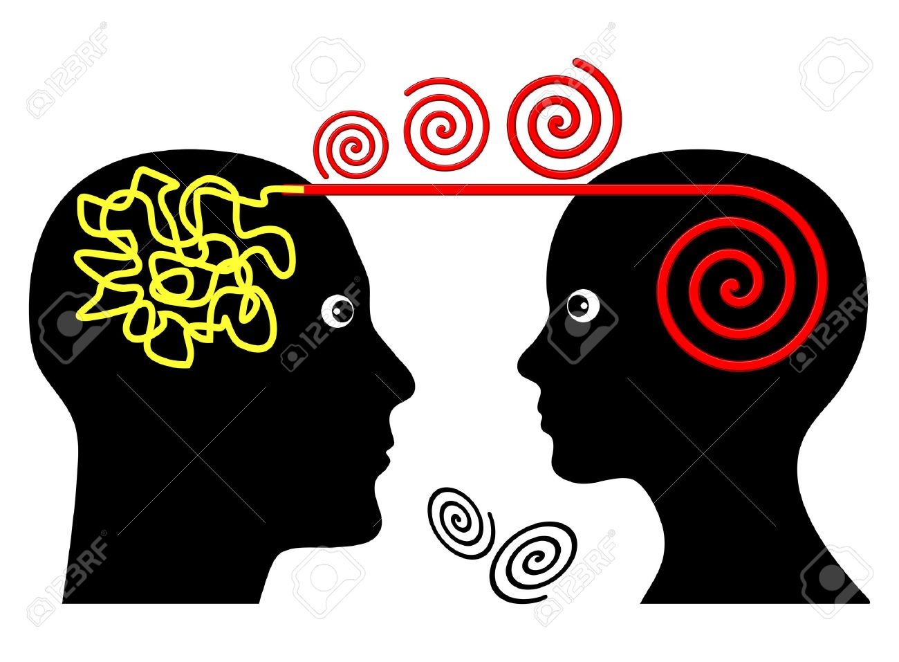 Psychotherapy Session. Psychotherapist treating patient with mental disorder - 33904880