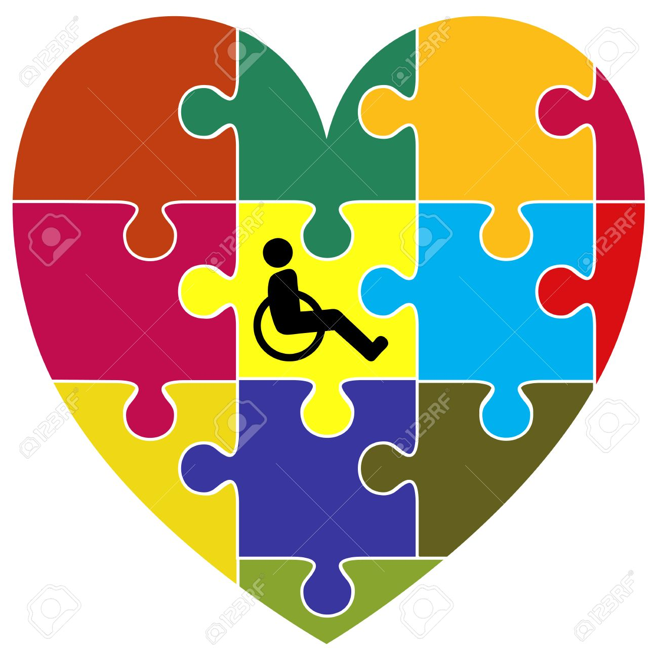 Inclusion concept symbol for the successful integration of inclusion concept symbol for the successful integration of handicapped people into community living stock photo biocorpaavc Image collections