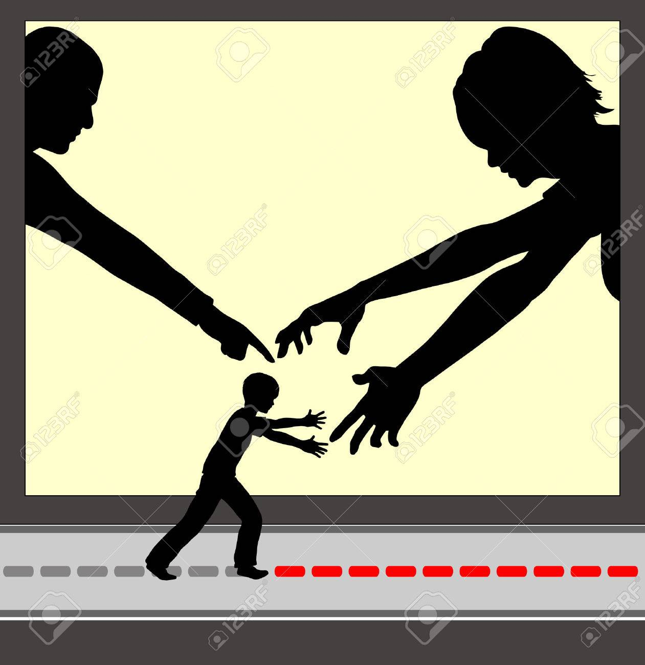 Overparenting. Concept sign of parents who are excessively involved in the life of their child - 38575837