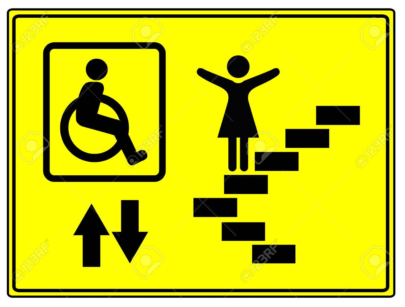 Mobility and inclusion elevator sign for mobility impaired people mobility and inclusion elevator sign for mobility impaired people like wheelchair user stock photo biocorpaavc Image collections