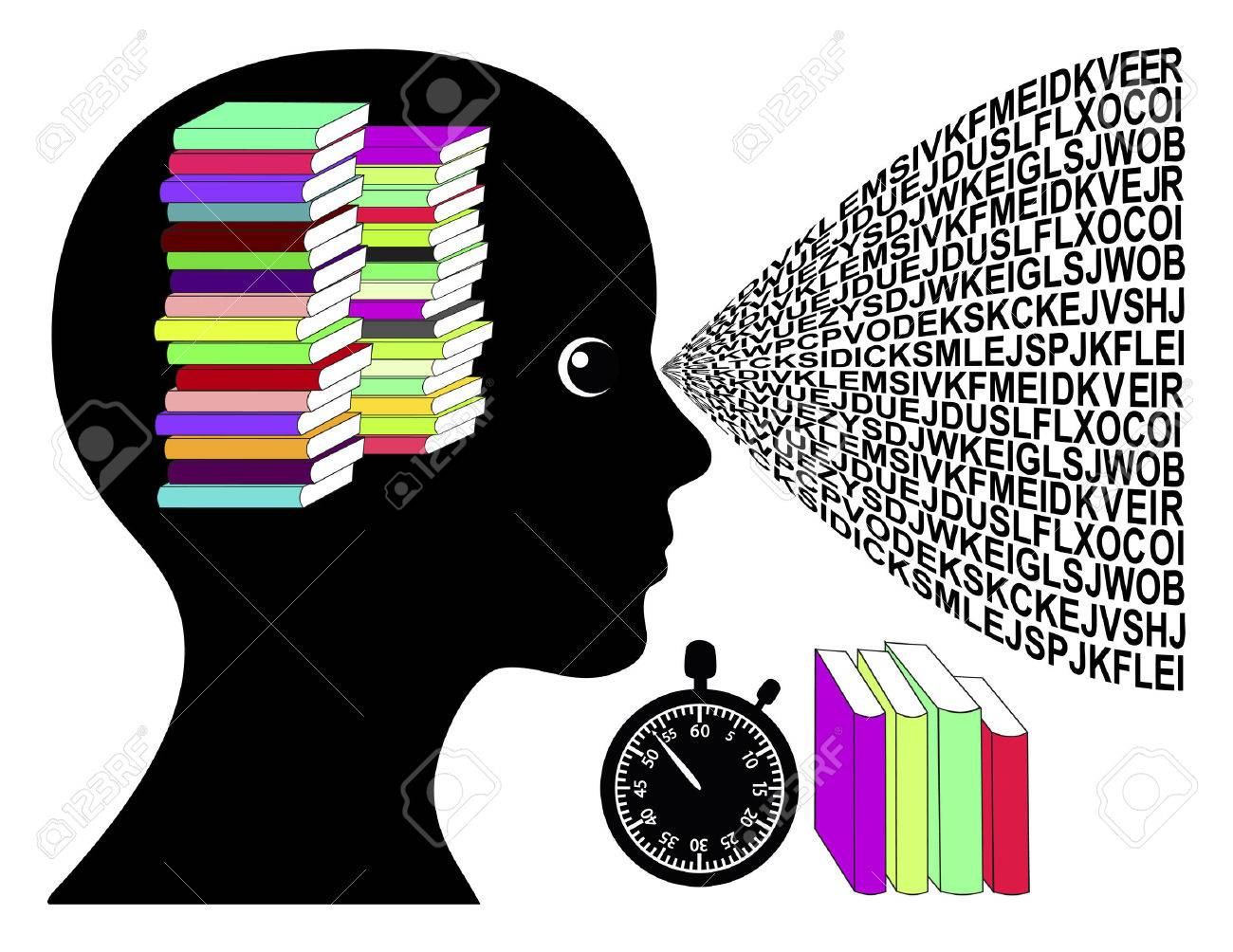 Speed Reading Woman. Concept sign of skimming books in no time - 50910266