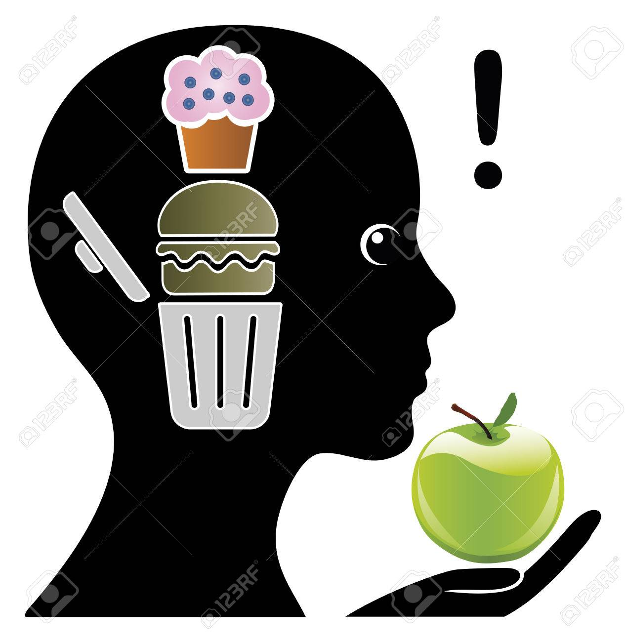 Brain Training to crave Healthy Foods. Mental training in order to limit junk food - 50998436