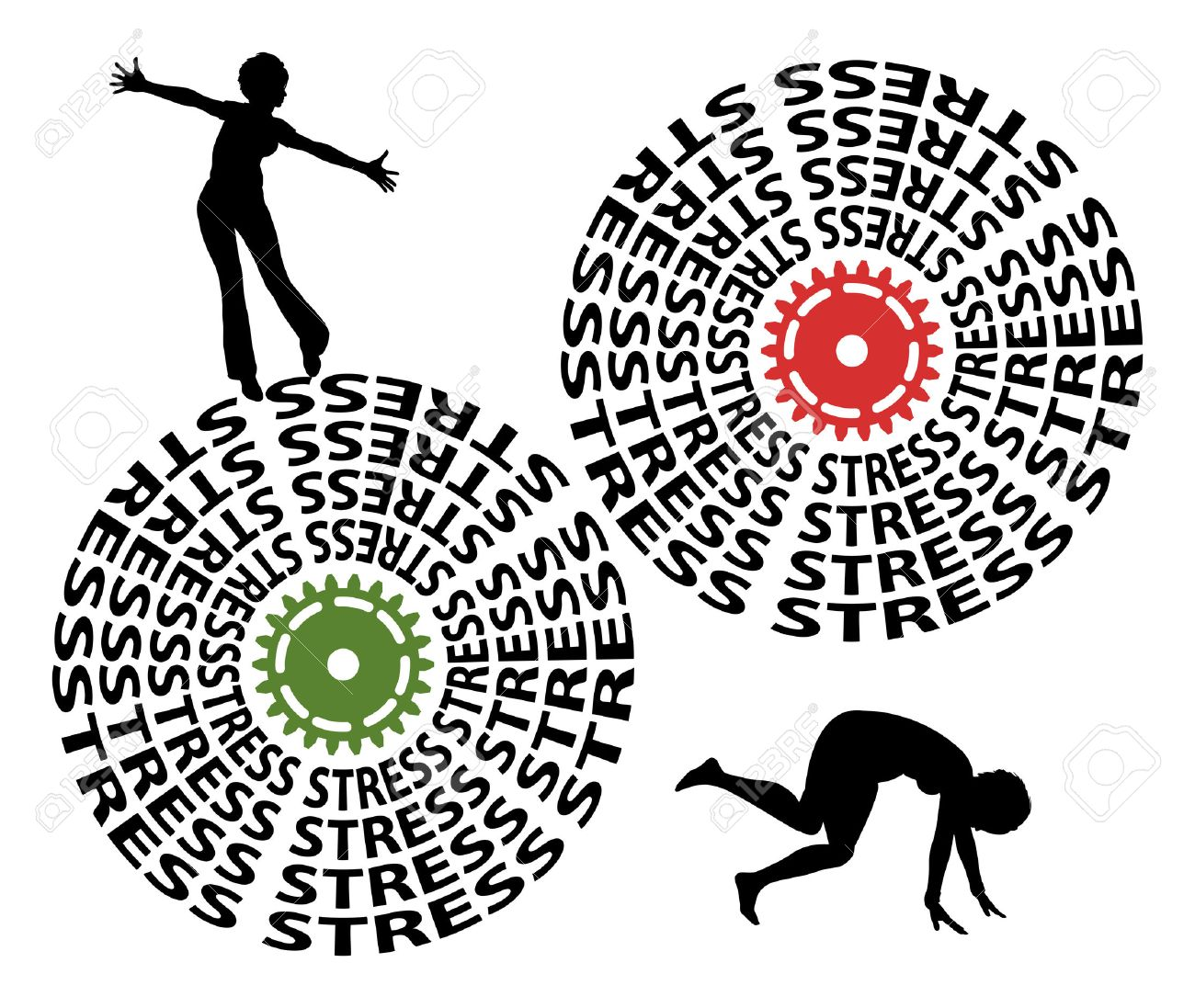 Eustress versus Distress. Good stress motivates, makes excited, bad stress causes severe health problems - 52183262